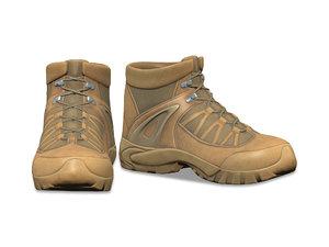 tactical combat cargo boots 3D