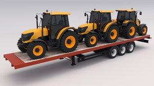 tractors trailer 3D model