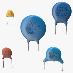 3D model monolithic ceramic capacitor soldered