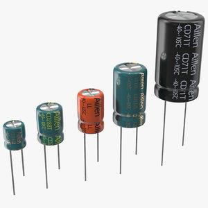 aillen aluminum electrolytic capacitor 3D model