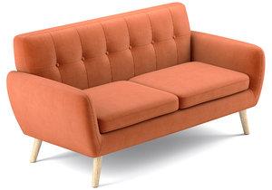 josephine sofa petite 3D