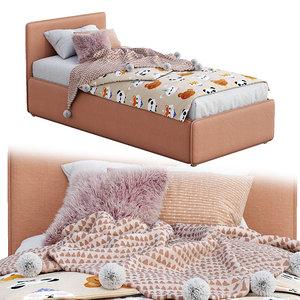 bonaldo single beds titti 3D