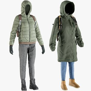 3D model realistic clothing 23 collections