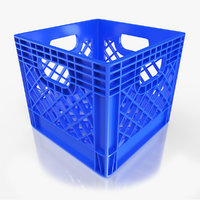 Used and New Milk Crate