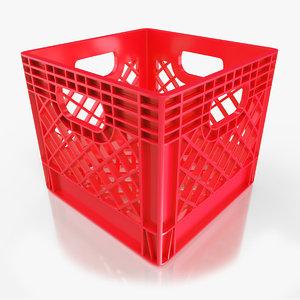 red milk crate 3D