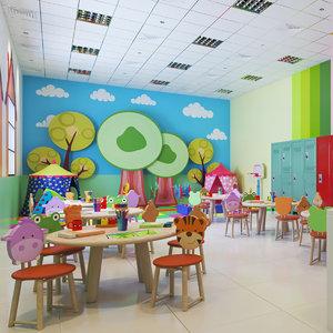 real nursery class interior 3D model