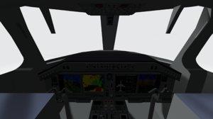 3D cockpit embraer 175 e-2