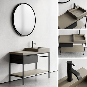 vanity semplice 105 unit 3D model