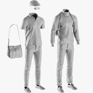 mesh clothing mix 24 3D model