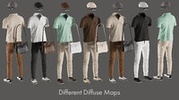 realistic clothing mix 24 3D