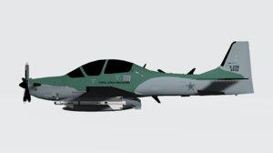 embraer emb super tucano 3D model