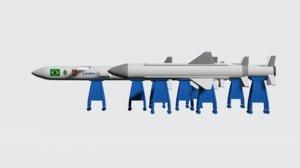 3D missile rockets