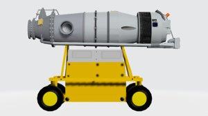 basic canada pt6 turboprop 3D model