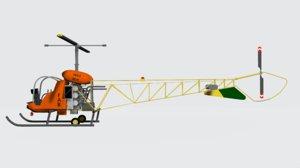 3D bell h-13 sioux