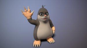 3D cartoon mole toon model