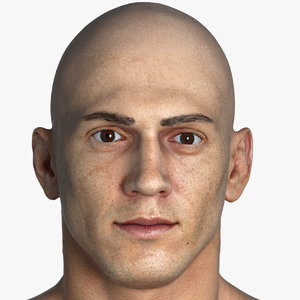 3D pbr real mike human head
