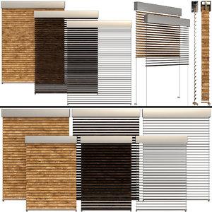 3D shutter windows doors blinds