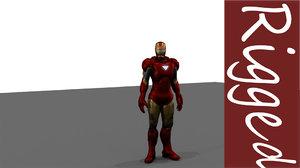 iron marvel 3D model