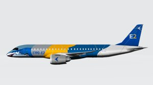 3D embraer color