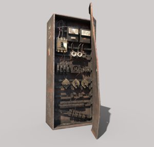old fuse box 3D model