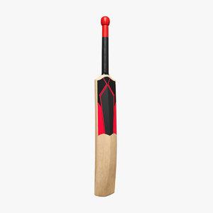 cricket bats 3D model