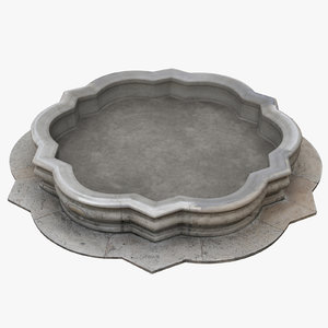 3D fountain basin 2