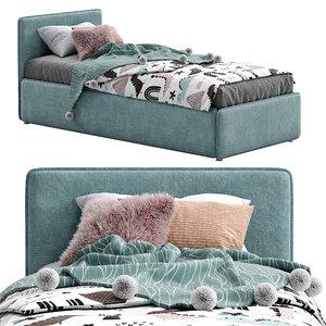 3D model bonaldo single beds titti