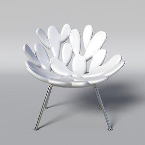 filicudi arm chair 3D model