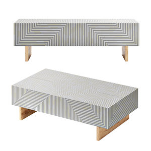 sleek coffee table inlay 3D model