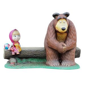 3D sculpture characters masha bear