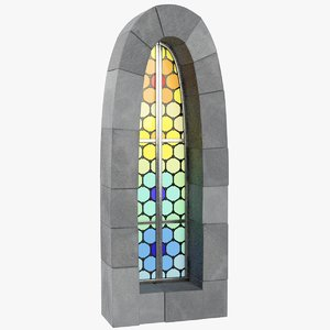 stylized old castle window model