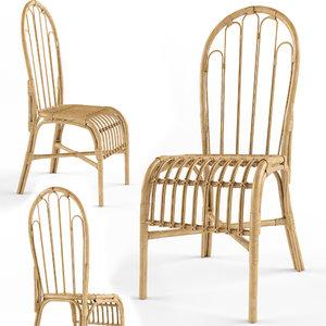 dining rattan chair model