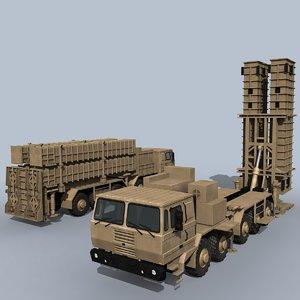 3D bavar-373 iranian missile