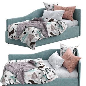 bonaldo single beds titti model