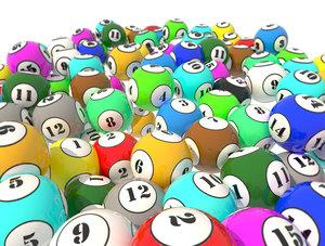 lottery balls 3D model