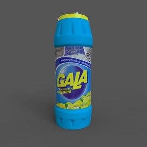 3D detergent gala powder 500g model