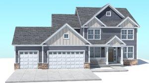 classic american house 3D model