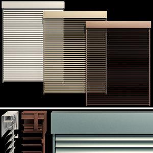 blinds door window 3D model