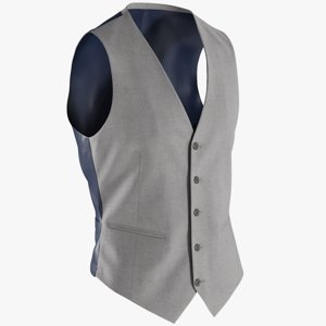 realistic waistcoat 1 3D