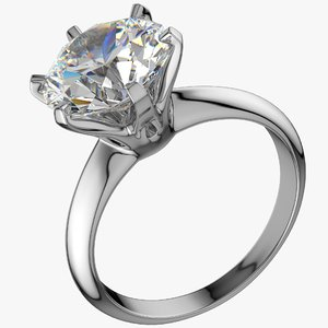 realistic diamond ring model