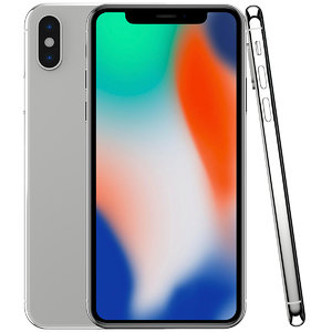 3D apple iphone x silver model