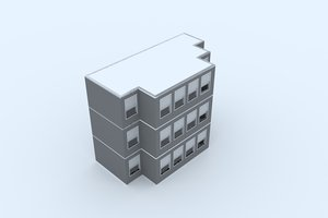 3D street architecture model