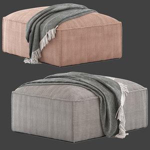 3D linea furniture kalisha pouffe