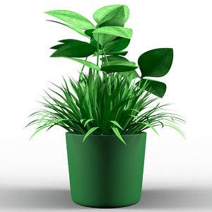 3D decorative flower pot clover