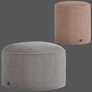 3D model linea furniture segolene corduroy