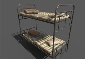 old bunk bed 3D model