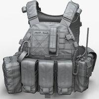 Zbrush Military Vest