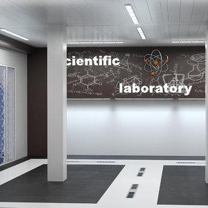 3D model scientific laboratory space