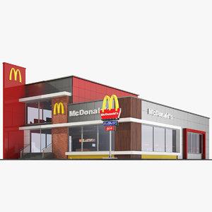 real restaurant 3D model