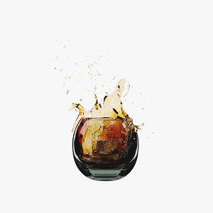 whiskey splash 3D model